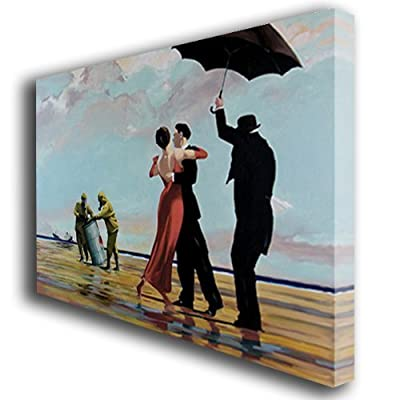 Banksy painting canvas art print large - low-cost UK light store.