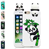 LA-Otter Coque iPhone 6S Plus 6 Plus Blanc Panda Ultra Fine Slim Mince Silicone TPU...