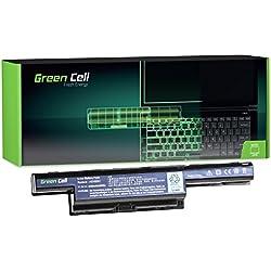 Green Cell® Standard Série Batterie pour Packard Bell EasyNote P5WS0 Ordinateur PC Portable (6 Cellules 4400mAh 11.1V Noir)