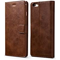 iPhone 6 6S 4.7 inch Case,Premium Ultra Slim [Magnetic Closure] Retro Vintage Leather TPU Folio Inner Flip Wallet Stand with [Card Slots] Case Cover for iPhone 6/6S(4.7 inch) - Dark Brown