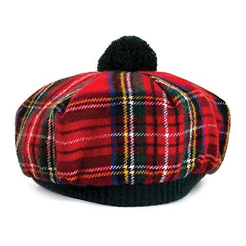 Village Hats Lochcarron of Scotland Tam O' Shanter Mütze - Royal Stewart - Rot - One Size (Tams Hat Herren)