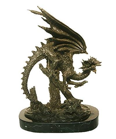 Toperkin Statue Bronze Dragon Statue Chinese Asian Art Sculpture TPY-648