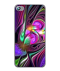 PrintVisa Designer Back Case Cover for Micromax Canvas Fire 4 A107 (Texture Illustration Handmade Black Backcase Pouch)