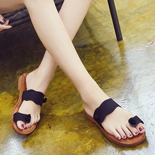 PENGFEI sandali delle donne Pantofole donna Pantofole da spiaggia sandali piani estivi flip flop studenteschi Confortevole e traspirante ( Colore : B , dimensioni : EU40/UK6.5/L:250mm ) B