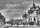 Bangkok Impressionen in Schwarz Weiß (Wandkalender 2019 DIN A2 quer): Eindrücke aus der Hauptstadt von Thailand (Monatskalender, 14 Seiten ) (CALVENDO Orte)
