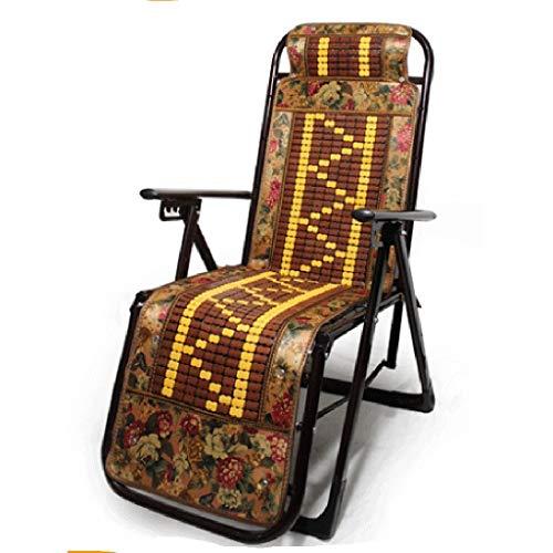 Z-JJLX Chaiselongue/zusammenklappbar/Büro für Sommerliegen/Stuhl / 40MM Rohrstärke/Mittagspause am Strand fauler Balkonstuhl/Mahjong-Matte (Color : C)