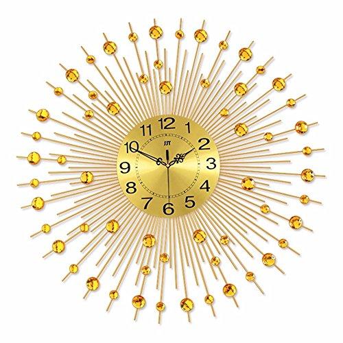 Wyypjtkore Wohnzimmer Wanduhr Sterne Diamond Gold Quarz - Uhr Uhr Wohnzimmer Jugendstil - Ambiente...