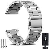 OTOPO Galaxy orologio 46mm bracciale per Samsung Galaxy orologio da polso, 22mm a sgancio rapido in acciaio INOX massiccio cinturino di ricambio 46mm sm-r800& Ticwatch Pro Smartwatch metallo argento