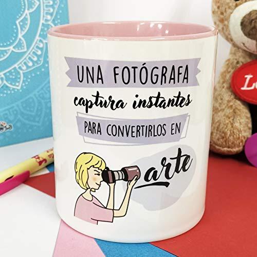 La Mente es Maravillosa - Taza frase y dibujo divertido (Una fotógrafa captura instantes para convertirlos en arte) Regalo para una Fotógrafa