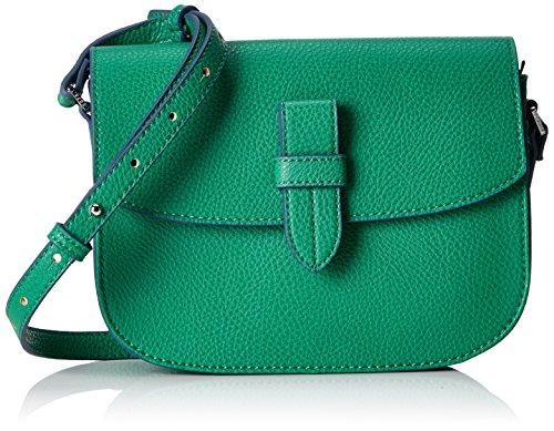 Esprit Accessoires Damen 058ea1o010 Umhängetasche, Grün (Emerald Green), 7x16x22 cm