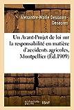 Telecharger Livres Un Avant Projet de loi sur la responsabilite en matiere d accidents agricoles (PDF,EPUB,MOBI) gratuits en Francaise