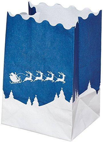 Wenko portalumini in carta, motivo: slitta di babbo natale, 8 pz, 11 x 16 x 9 cm, 8576100
