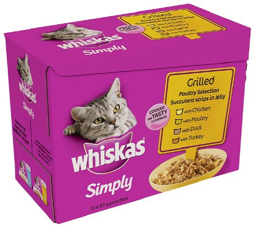 whiskas-simply-grilled-poultry-in-jelly-12-x-85-g-pack-of-4-total-48-pouches
