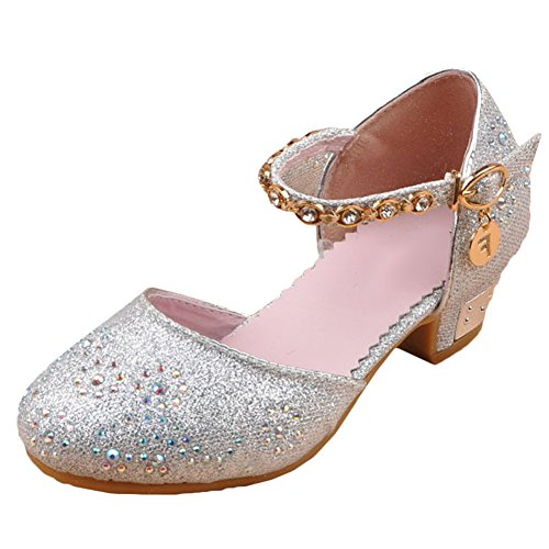 Scothen Baby Kinder Mädchen Prinzessin Ballerinas Elegante Party Schuhe Kinderschuh Festliche Schuhe Mädchen Studenten Lederschuhe Tanzschuhe Schmetterling Schuhe Schleife Absatz Mädchen Kostüm