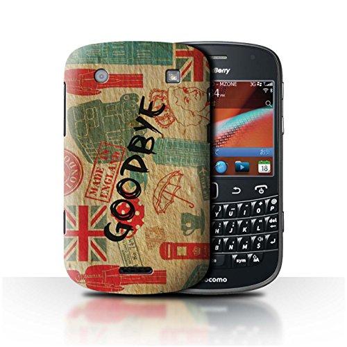 Stuff4® Hülle/Case für BlackBerry Bold 9900 / Auf Wiedersehen Europa Muster/Großbritannien/Britischer Stolz Kollektion -