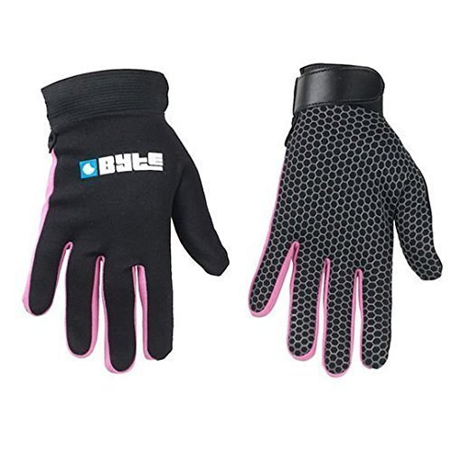 Byte Snug Fit Piel Hockey Guante Negro Rosa, Mujer, Color Rosa, tamaño XXS