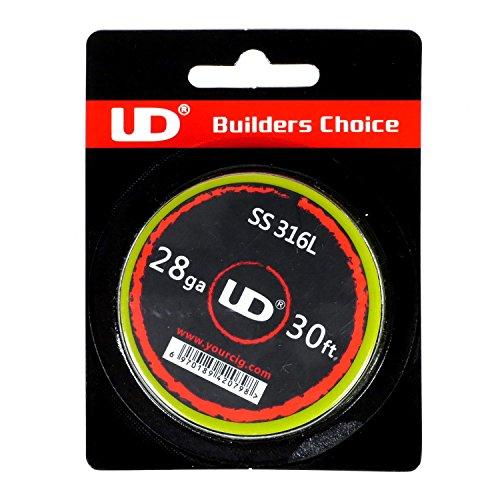 Youde UD Edelstahl Draht (SS316L) zum Selbstwickeln von Coils, Circa 9 m Rolle, 0.3mm Durchmesser (28 awg), 1 Stück