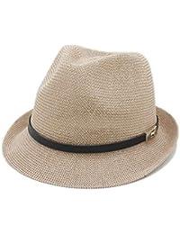 Gorros Hombres Verano Sombrero para El Sol Carta De Caballero Clásico Navegador  Papá Sombrero Plano De 06828f5eb245