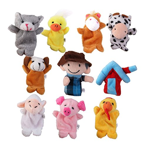 Old MacDonald Nutztieren Fingerpuppen Kinder Bevorzugen Spielzeug 10pcs (Farm Animal Finger Puppets)