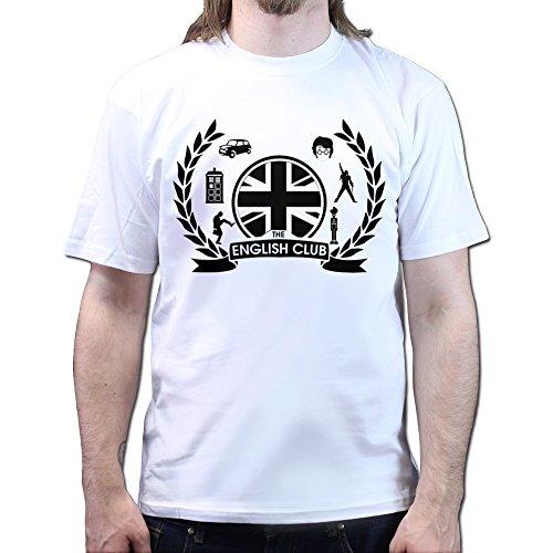 English Club Potter Dr. Matt Smith Who IT crowd Monty the Python T-shirt Weiß