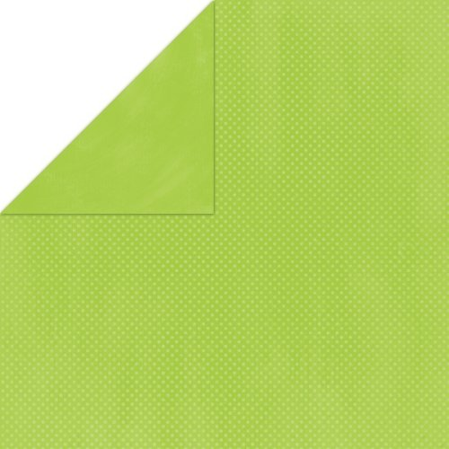 BoBunny Double Dot Double-Sided Textured Cardstock 12x12-Kiwi 25 per pack by Bo Bunny -