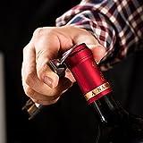 BENKIA Holz Kellnermesser - Gratis Wein-Ratgeber Ebook - Profi Korkenzieher aus Edelstahl in Gastronomie Qualität mit Flaschenöffner & Folienschneider - 3