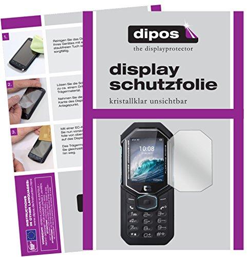 dipos I 6X Schutzfolie klar passend für Crosscall Shark-X3 Folie Displayschutzfolie