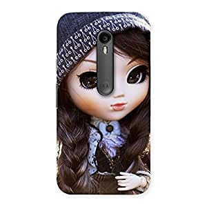 Stylish Sweet Angel Doll Multicolor Back Case Cover for Moto G Turbo