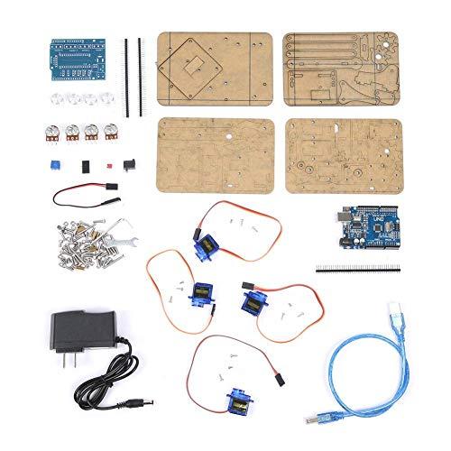 Roboterarm Kit, DIY Montage Acryl Mechanischer Arm 4 DOF Robot Claw Kit für Arduino Robotics SNAM1900 -