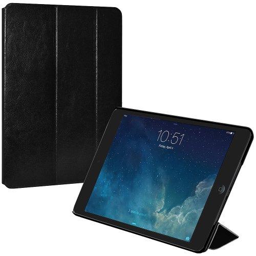 Amzer Leder Textur Portfolio Multi Winkel Folio Ständer Schutzhülle für Apple iPad Mini mit Retina Display, iPad Mini 3, schwarz (amz97091) (Ipad Mini Retina Case-portfolio)