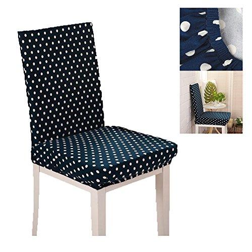 Bettüberwurf Eßzimmer Stuhl mit elastischer Riemen waschbar Abnehmbare Bezüge der Sitze Stühle...