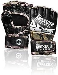 Boxeur Des Rues Activewear Guantes MMA lucha tribal, camuflaje, M