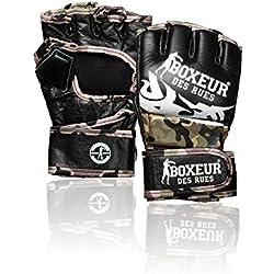 Boxeur Des Rues Activewear Guantes MMA lucha tribal, camuflaje, L