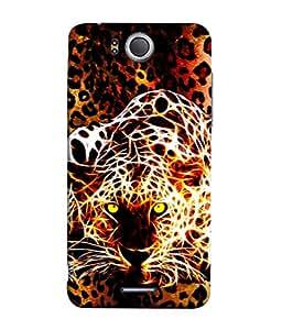 PrintVisa Designer Back Case Cover for InFocus M530 (Illustration Of Tiger Brown Design)