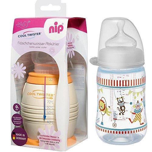 Preisvergleich Produktbild NIP Flaschenkühler Cool Twister inkl. Gratis - NIP Flasche 260ml mit Sauger Gr. M