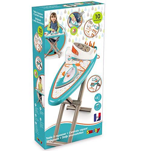 #1118 Bügelbrett mit Dampfstation, Bügeleisen, etc. - Kinder Bügeleisen Kinderbügeleisen Haushalt Spielzeug Set