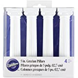 Wilton Pack de 4 columnas Estilo Griego para Tartas, 12,5 cm