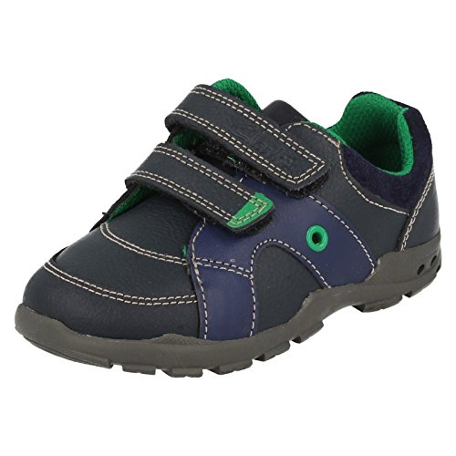 's First Shoes in Navy or Brown Navy Combi (Combi Flash)