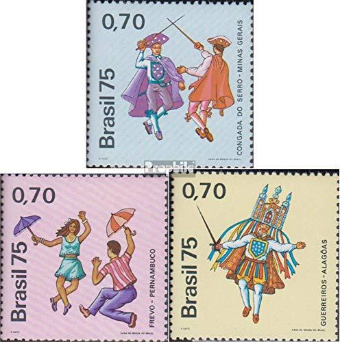 Prophila Collection Brasilien 1499-1501 (kompl.Ausg.) 1975 Volkstänze (Briefmarken für Sammler) Uniformen / Trachten