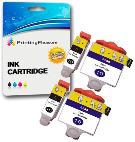 4 XL Tintenpatronen kompatibel zu Kodak 10B & 10C für Kodak ESP 3 5 7 9 3200 3250 5000 5100 5200 5210 5250 5300 5500 6100 6150 7200 7250 9200 9250 Hero 6.1 7.1 9.1 - Schwarz/Color, hohe Kapazität - Tinte Kodak 3250 Drucker