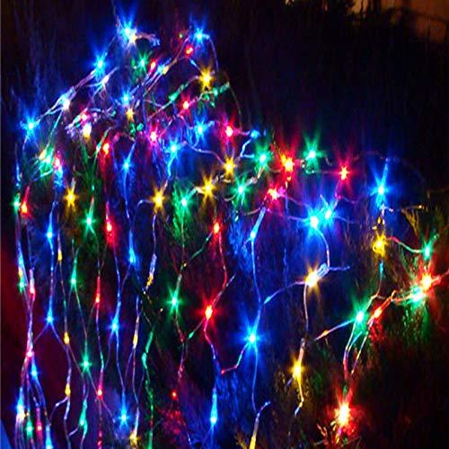 2 Meter * 2 Meter Nettolicht Europäische Norm-Stecker 220V Farbe, Weiß, Lichterketten Feiertags-Dekoration Einfach zu bedienen wasserdicht und sicher Multicolor