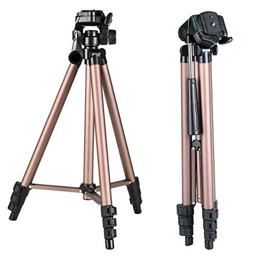 K&F Concept TL20231 Trepied Appareil Photo, Trepied Aluminium, Trepied Ultra Leger Tete 3D Rapide 4 Sections Max:125cm pour Camera Camescopes Sac de Transport Inclus Charge Max: 2kg