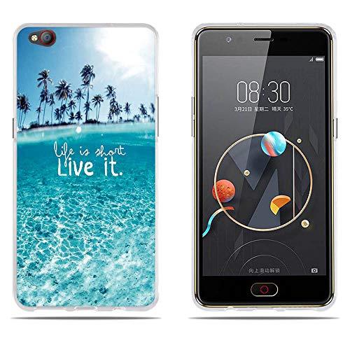 DIKAS ZTE Nubia M2 Lite Hülle, Ultra Dünn Slim TPU Silikon Case Schutzhülle Gel Skin Transparent Handyhülle Clear Protective Case Schale Crystal Bumper für ZTE Nubia M2 Lite 5.5