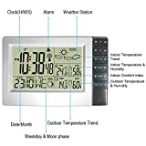 RF Radio Controlled Large Digital Wireless Weather Station Weather Forecast Clock Indoor Outdoor
