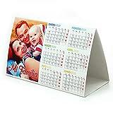 LolaPix Calendario de Mesa SEMESTRAL Personalizado con Foto Original. Pack 1UD