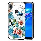 Yoedge Cover Samsung Galaxy S11 / S20 Plus, Sottile Antiurto Custodia Nero Silicone TPU con Disegni Rilievo Pattern Ultra Slim Protective Bumper Case per Samsung Galaxy S11 / S20 Plus,Uccello