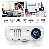 2019 upgraded 4500 Lumen Video Projector 1080P Home Theater LED Wxga Outdoor Movie