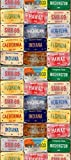 Fototapete, Tapete USA Nummernschilder WP 9825, 0,53x10,05 m