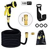 Garden Hose 100ft 30m HmiL-U Strongest Double Latex Inner Tube Prevent Leaking Magic