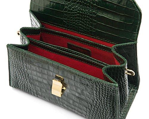 SageBrown, Mocassini donna Green Croc